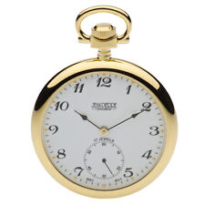 Jean Pierre Gold Plated Open Face Pocket Watch, 17 Jewelled Lever ref G308PM