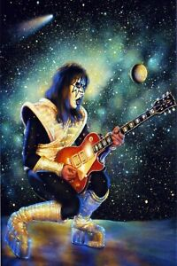 """Rock Band Poster Wall Deco. Kiss, Ace Frehley Spaceman 24"""" x 36"""""""