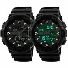 Men's Digital Watch Waterproof Date Military Quartz Analog Watches ALL Black US
