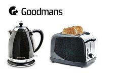 Goodmans Black Diamond Sparkle 1.8L 3kw Kettle & Matching 2 Slice Toaster [SET]