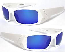 Mens POLARIZED Mirrored Lens Cycling Fishing Sport Wrap Sunglasses Matte White