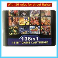 138 in 1 Game Cartridge Multicart for SEGA Genesis Mega Drive MD Street Fighter
