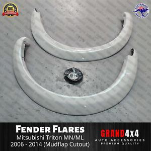 White Fender Flares for Mitsubishi Triton MN ML 2006-2014 Guard Trim FRONT ONLY