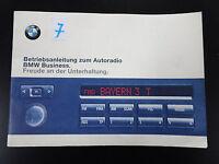"""Orig. BMW 5er E39 Radio """"de"""" Autoradio Reverse RDS Betriebsanleitung Handbuch"""