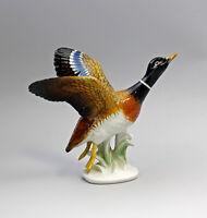 Porzellan Figur Ente fliegend Erpel Vogel Ens H16cm 9997748
