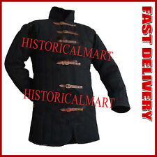Black XL Size Gambeson Type IV Medieval Padded Armour Coat LARP Arming Jacket