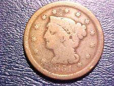 US Coins SCARCE 1851 Good Braided Hair Large Cent Copper G150