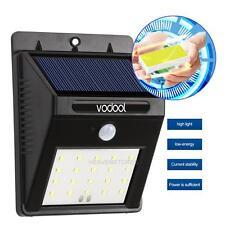 VODOOL 20 LED Énergie Solaire Sensor Mur Lumière Jardin Lampe Etanche Extérieur