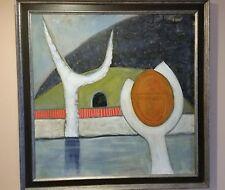 """Brent A Godfrey Original Oil Sculpture Garden  2004 39 1/2"""" x 39 1/2"""""""