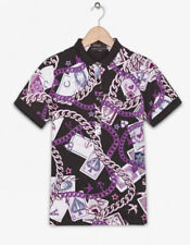 FRED PERRY / AMY WINEHOUSE PURPLE GRAPHIC POLO SHIRT SIZE 8