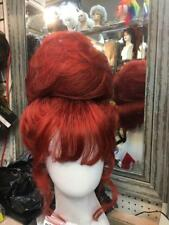 SIN CITY WIGS SALE! FIERCE RED DRAG QUEEN WIG SMOOTH UPDO TENDRILS BIG POOF HIVE