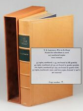 T. E. Lawrence - War in the Desert, Castle Hill Press, full goatskin, copy #19