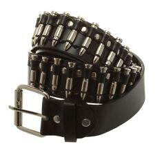 115cm Cowboy Style Silver Coloured Bullets Studs Black Belt