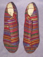 Hippie Rainbow Design Platform Wedge Heels Nature Breeze Open Toe Size 9
