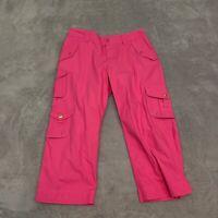 Lauren Ralph Lauren LRL Womens Size 8 Crop Capri Cargo Pants Straight Leg Pink