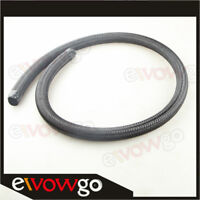 Black 1500 PSI NYLON cover braided -4AN AN4 Oil Fuel Gas Line Hose