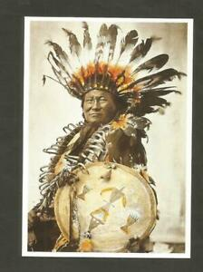 CARTE POSTALE INDIEN SIOUX HUNKPAPA RAIN IN THE FACE