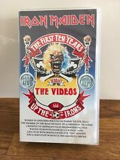 IRON MAIDEN, THE FIRST TEN YEARS. On VHS Cassette Very Rare