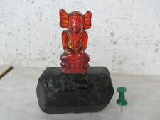 ZIRKON Edelstein  Elefant - BUDDHA Ganesha auf Turmalin  Rarität, Thailand ~1960