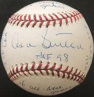 Don Sutton AUTO STAT Inscribed MLB Baseball, Reggie Jackson COA, Beckett COA