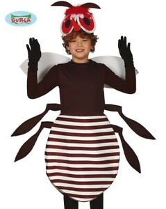 Childs Mosquito Fancy Dress Costume Childrens Insect Fly Creature Outfit fg