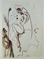 Dalí Salvador: Paraiso 31 - Arcángel Gabriel - Madera Grave # Divina Comedia