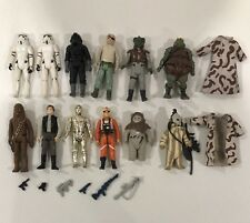 Vintage Lot of  Star Wars Action Figures 1977-1980 Kenner Toys Sci-Fi Han Solo