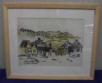 """Willy Hinck """"Cripple Creek"""", Tusche u. Pastell, signiert, datiert, 1970"""