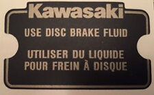 KAWASAKI GPZ1100 GPZ750 Z1100R ZX GT GPZ Calcomanía De Cilindro Maestro precaución