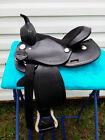 """12"""" Black Tooled Leather Western Youth Saddle Mini Miniature Horse Pony 3267"""