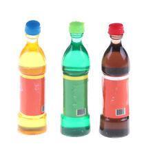 3X Mini  Bottles Drink Dollhouse Home Pub Bar Decor GiftSN