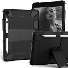 """Heavy Duty Case Stand Cover for iPad 10.2"""" 7th Gen 2019 With Screen Protector"""