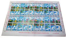FOGLIO  IPZS 45° CAMPAGNA TUBERCOLOSI 1982 N. 40 FRANCOBOLLI DA LIRE 100 FOGLIO