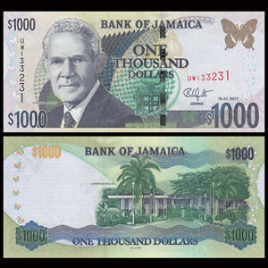 Jamaica 1000 Dollars, 2011, P-86i, UNC