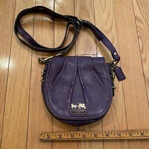 Coach Purple Leather Small #44389 Crossbody Bag