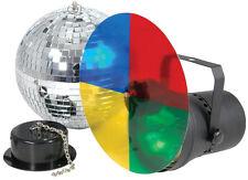 Luz Disco Fiesta Kit Set 3 filtros de color y el motor con 20cm Bola De Espejos