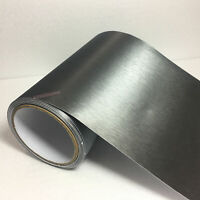 30x150cm Car Metallic Matte Brushed Aluminium Grain Vinyl Wrap Sticker Grey KW