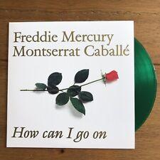 "Freddie Mercury & Montserrat Caballe - How Can I Go On  7"" Green Vinyl Queen"