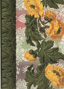 Kunstkarte / Postcard Art - Blumenbordüre, Frankreich