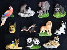 Kühlschrankmagnet sehr plastische Hund Katze Wildtiere Elefan ca 5x7cm Polyresin