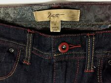 Motto Women's Size 4 Dark Blue Jeans w Red & Gold Stitching