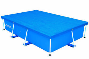 Bestway Flowclear Swimming Cover for Rectangular Steel Pro Pools - Blue