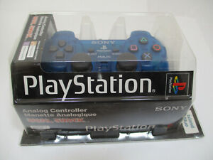 NEW Sony Dualshock Island Blue PS1 PlayStation Official OEM Controller!