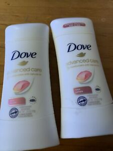 Lot of 2 Dove Advanced Care Rose Petals Natural Oil Antiperspirant-2.6oz