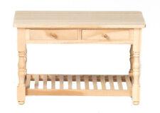 Dollhouse Miniature Table Kitchen Work  Wood Falcon Minis 1:12 Scale