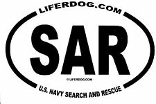 4x6 USN  SAR U.S. NAVY SEARCH AND RESCUE    STICKER