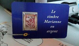 FRANCE - TIMBRE EN ARGENT MARIANNE DE LAMOUCHE N° 3925 NEUF **