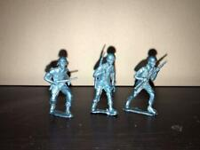 Lot of 3 WW2 GI Toy Soldiers 54mm Scale  Metallic Blue MPC