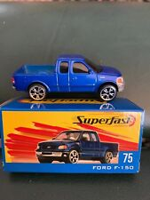 Matchbox #75 Ford F-150 Blue Pickup Truck with Box Superfast