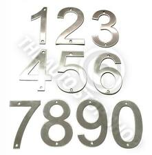 Acero Inoxidable Números Casa -No 386 - tornillo en / puerta / edificio 10cm